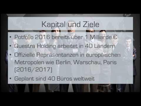 QUESTRA World Holdings AGAM Präsentation Presentation Deutsch Neu German Betrug
