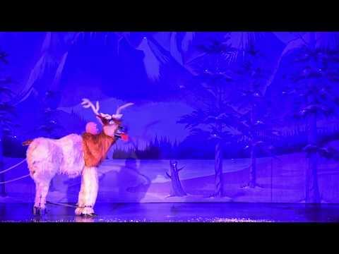 Presentación de Frozen: Una aventura congelada  en el Teatro Abril.