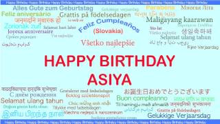 Asiya   Languages Idiomas - Happy Birthday