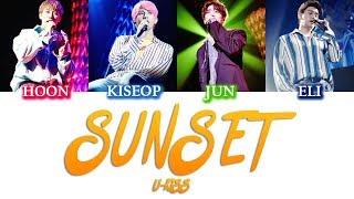 Sunset - U-KISS (KANJI, ROM, ENG/Color Coded)