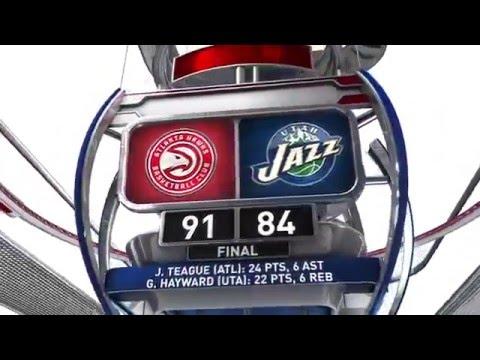 Atlanta Hawks win over Utah Jazz      March 8, 2016   NBA 2015 16 Season