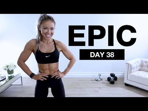Day 38 of EPIC | KILLER UPPER BODY WORKOUT [Dumbbells & Bodyweight]