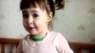 Очаровательная малышка говорит, что папу зовут Батя, самые лучшие приколы с детьми 2014!