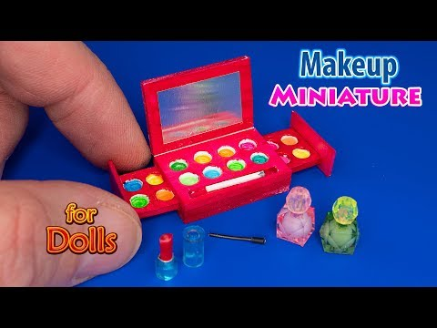 DIY Miniature Makeup set For Dolls with Mirror | DollHouse | No Polymer Clay!