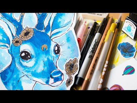 Too Cute? ART TARTE Unboxing + Speed Painting with Delicious Art Supplies
