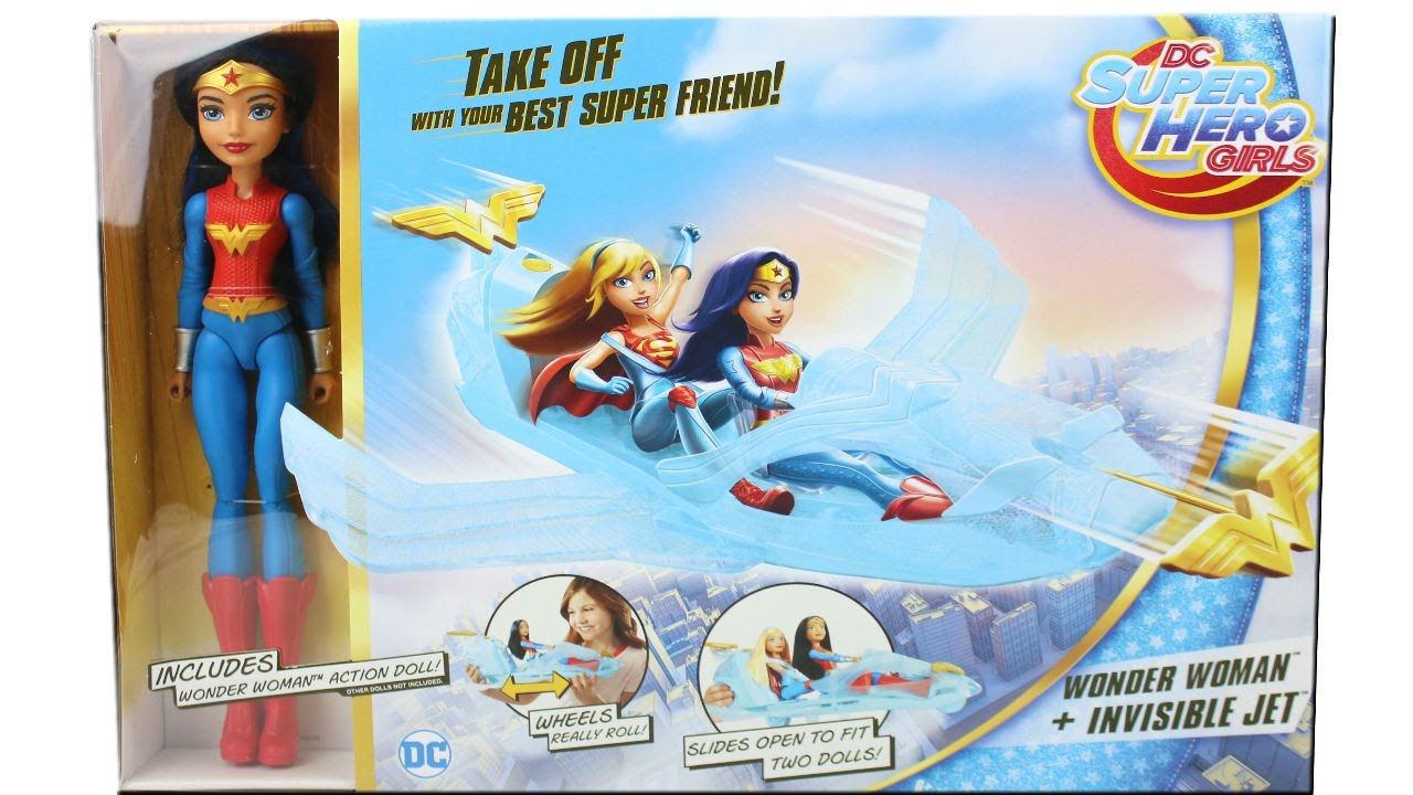 NEW DC SuperHero Girls Wonder Woman doll and Invisible Jet