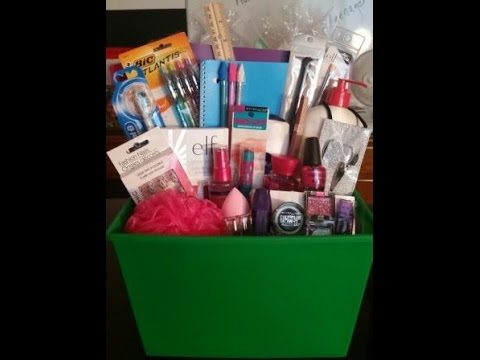Christmas Gift Basket Tutorial Teenager