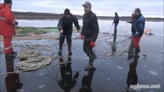 НЕВОД ЗИМОЙ -ЛАТВИЯ  Капиньское озеро Аглонский край