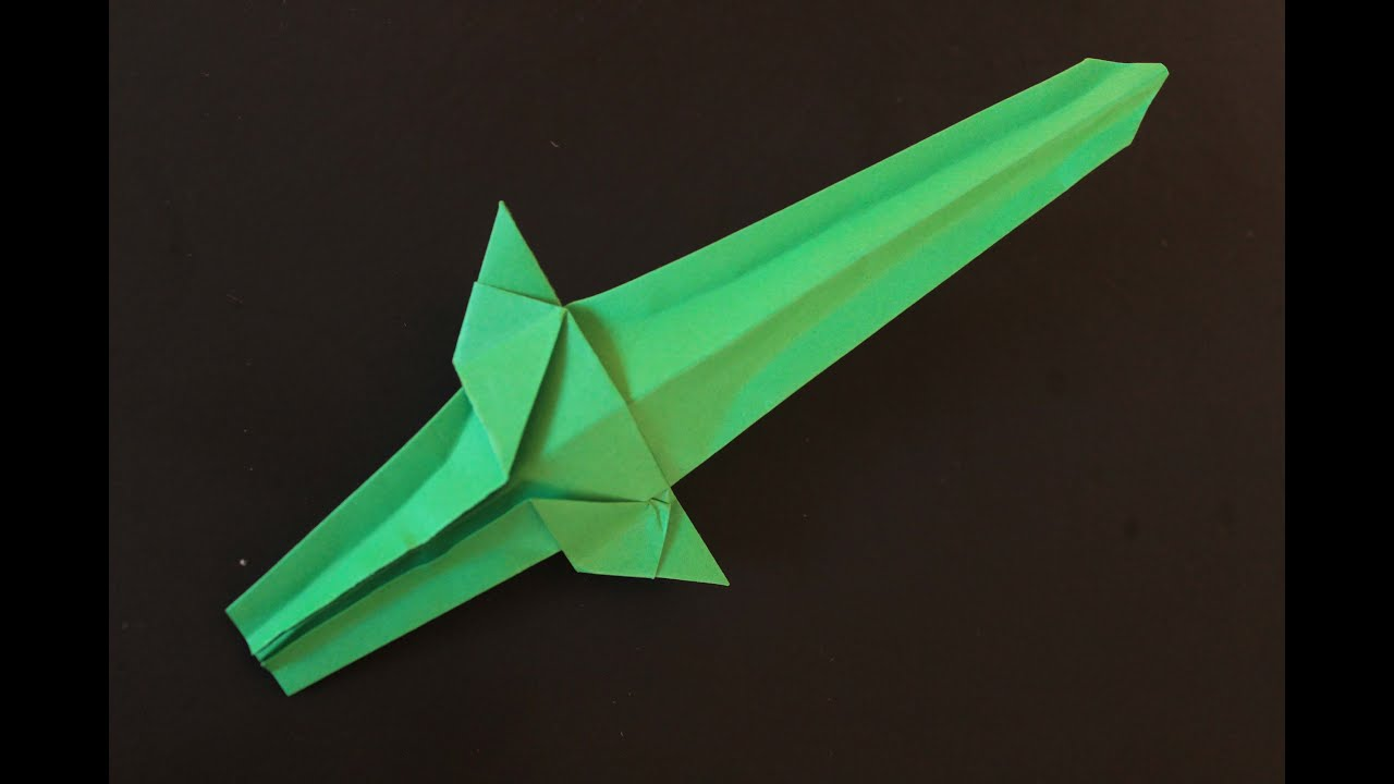 How to make a nice paper sword origami - YouTube