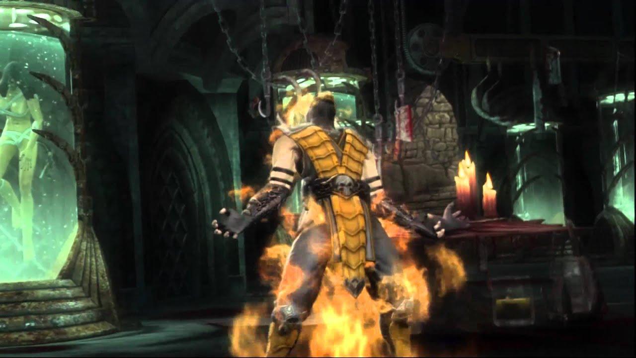 Mortal Kombat 9 Scorpion Alt Costume Two Colour - YouTube