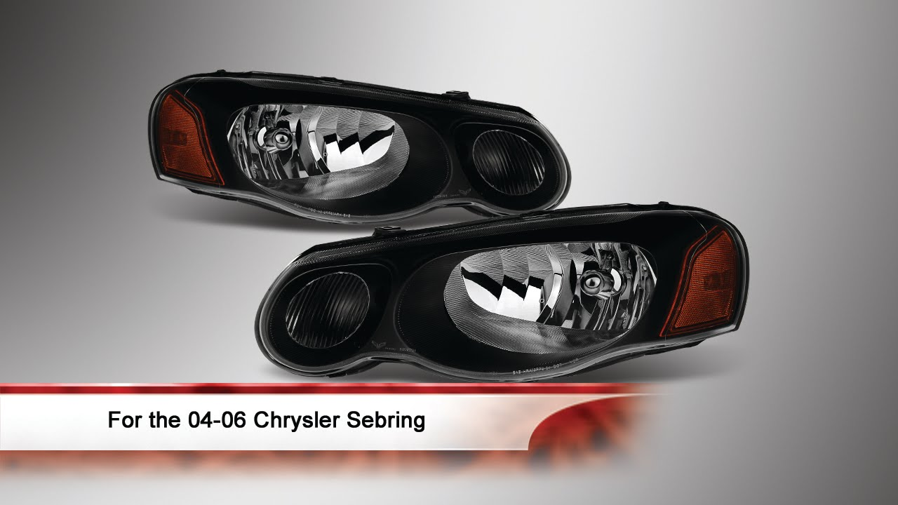 04 06 Chrysler Sebring Convertible Sedan Oem Style Headlights