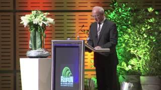 Eröffnungsrede von Essens Oberbürgermeister Reinhard Paß zur Reifen Messe in Essen