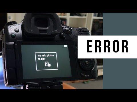 Error Message When Updating Panasonic Lumix GH5 Lens Firmware 12-35mm f/2.8 Mk II