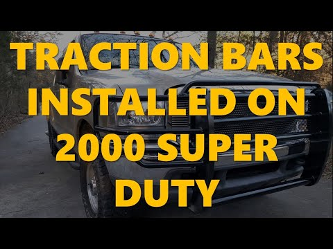 One Up Offroad (OUO) Traction Bar Install on 2000 Ford 7.3 Super Duty