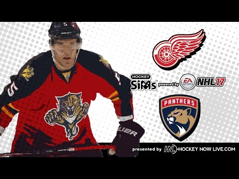 Red Wings vs Panthers (NHL 17 Hockey Sims)