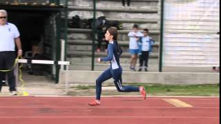 Macomer 06 dicembre 2015 - 8^ Prova Atleticapiù Trofeo MEM Informatica. Il salto triplo di Rossella Guiso
