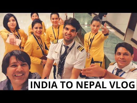 Short Trip From New Delhi, India To Kathmandu, Nepal With Flight Full Of Air Hostess: VLOG