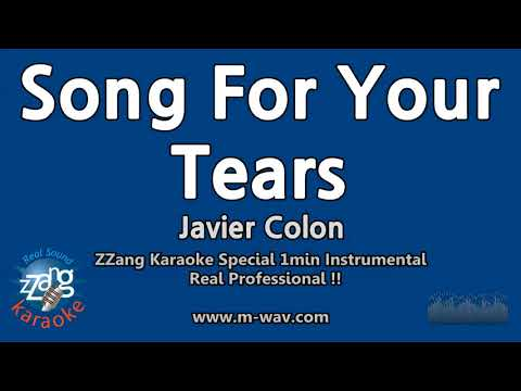Javier Colon-Song For Your Tears (1 Minute Instrumental) [ZZang KARAOKE]