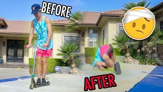 I NEARLY BROKE MY NECK!! *WORST INJURY*