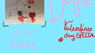 Dog | Valentines Day | Speed Drawing