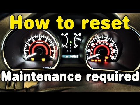 How to reset maintenance required on Toyota Highlander!