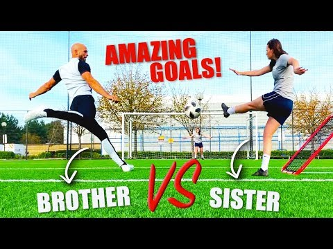 I Challenged My SISTER To A Football Competition!