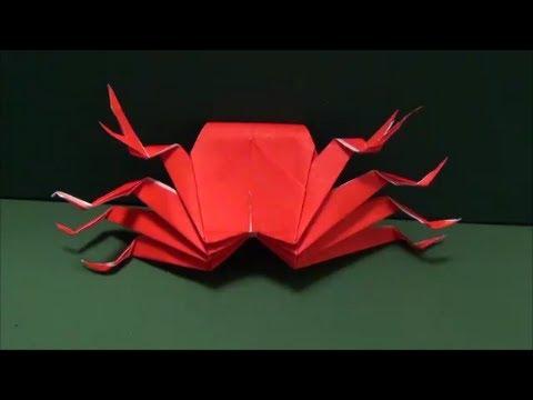 """達?束達??達??脱??達??巽卒?3""""Crab""""origami3 - YouTube"""