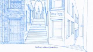 how to draw a street by miandza