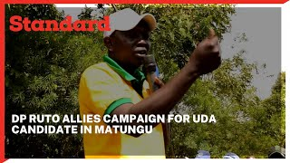 Deputy president Ruto\'s allies storm matungu to campaign for U.D.A Candidate Alex Lanya.