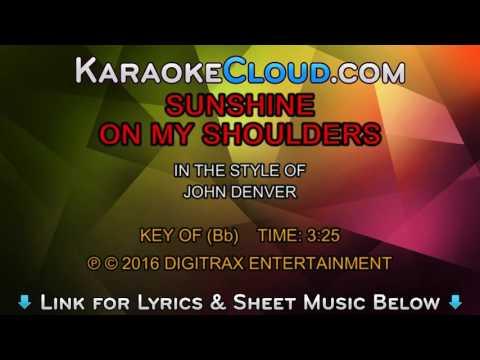 John Denver - Sunshine On My Shoulders (Backing Track)