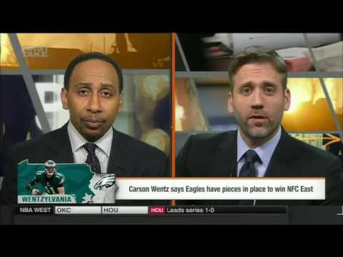 ESPN FIRST TAKE 4 18 2017 FORGET THE REBUILD, AT LEAST CARSON WENTZ WANTS EAGLES TO WIN NOW!