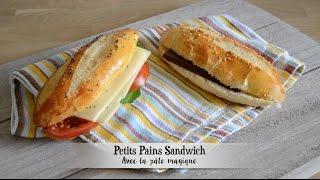 Petits pains sandwich (Pâte magique # 2) thumbnail