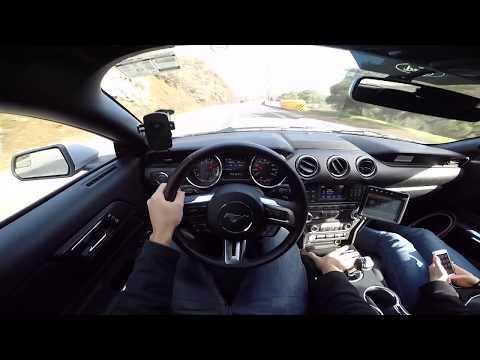 Um dia de Mustang V6 3.7 300cv Conversível na California Test Drive Onboard POV GoPro + Comentários