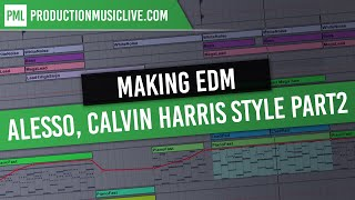 Making EDM Progressive House Alesso Calvin Harris Style in Ableton Part 2: Tutorial