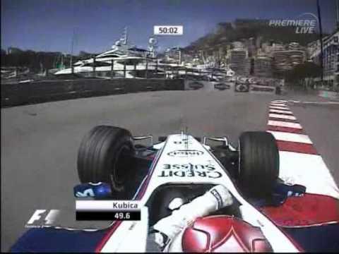 Kubica Lap In Monaco Formula1 2006  FP1