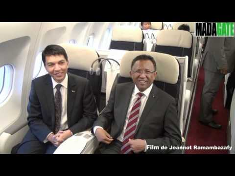 Andry Rajoelina dans l'Airbus A340