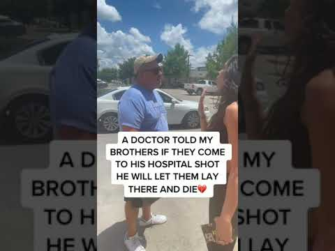 White Doctor: If You Come To My Hospital With A Gun Shot I Will Let You Die
