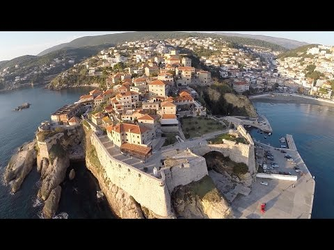 Ulcinj and Velika Plaža (Montenegro) - Aerial Video Footage