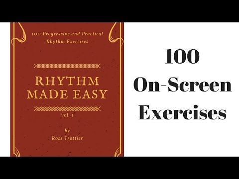 How to Count Rhythm Music Lesson - 100 On Screen Exercises for the Absolute Beginner