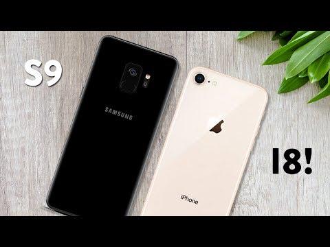 Galaxy S9 vs iPhone 8 | Qual vale mais a pena em 2018? [ Comparativo ]
