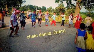 Garposh. san dumermunda. Chain dance sadri song...