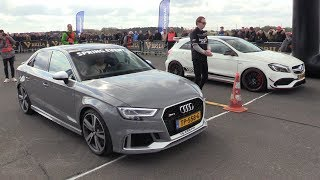 Mercedes-AMG A45 4Matic+ vs 400HP Audi RS3 Sedan vs Mclaren 720S
