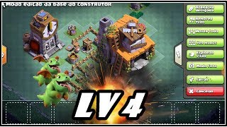 LAYOUT PARA CASA DO CONSTRUTOR NIVEL 4 ! CLASH OF CLANS