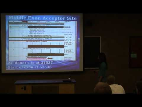 Gene Annotation of Genomic DNA - Dr. James Bedard with students - November 4, 2010