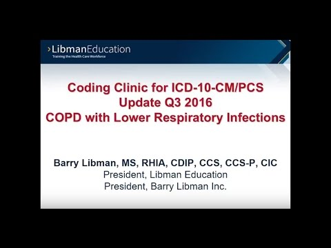 ICD-10 Coding Clinic Update: COPD with Lower Respiratory Infections