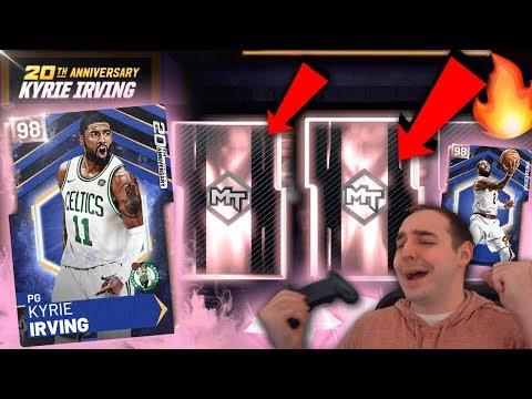 NBA 2K19 My Team MULTIPLE PINK DIAMONDS IN BOX MULTIPLE TIMES! ANNIVERSARY PINK DIAMOND KYRIE!!!