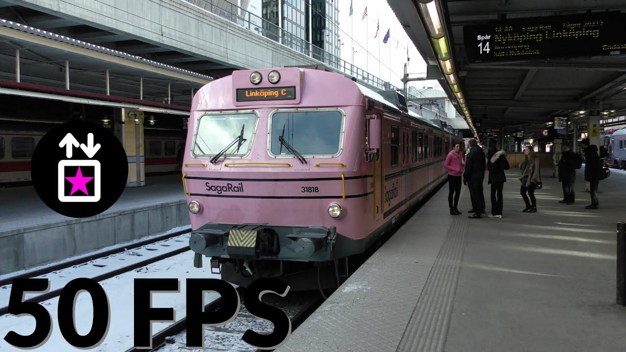 Saga Rail X10 Train Journey from Stockholm to Norrköping via Nyköping