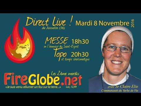 Messe Fireglobe Novembre Verbe de vie