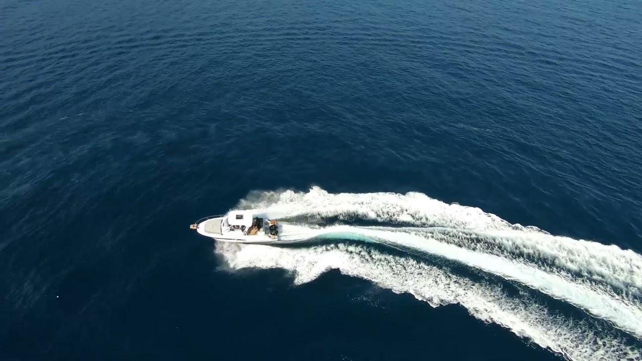 Premiers essais en mer de MARJAN, Cap Camarat 9.0 WA L'EMINENCE MISTRAL MARINE avec ESPACE POWER