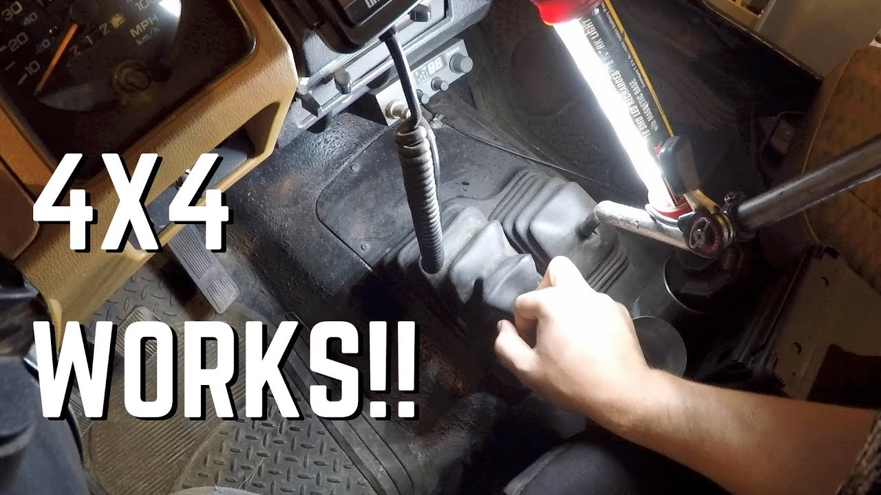 jeep tj transfer case wiring yj wrangler transfer case linkage fixed - youtube